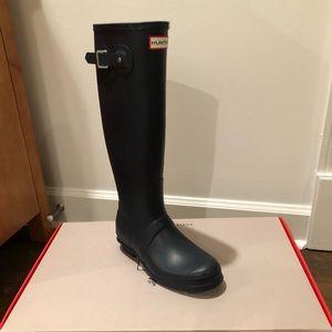 Tall Navy Blue Hunter Boots